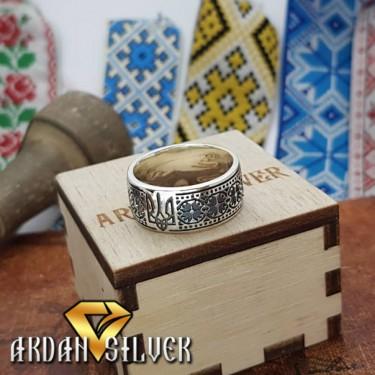 Кільце вишиванка з гербом України