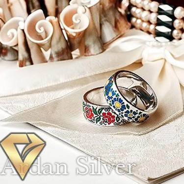 Срібні обручки у вигляді вишиванок