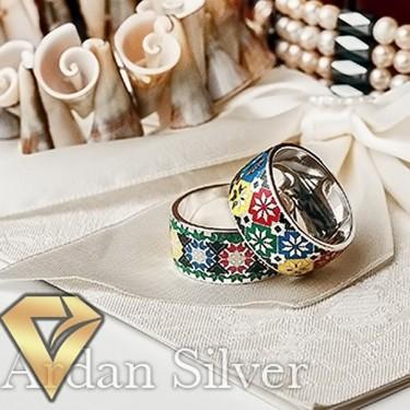 Обручки зі срібла вишиванка