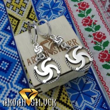 Сережки з символом Рода